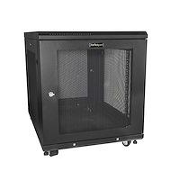 "12U Server Rack Cabinet - 4-Post Adjustable Depth (2"" to 30"") Network Equipment Rack Enclosure w/Casters/Cable Management/Shelf /Locking Dell PowerEdge HP ProLiant ThinkServer"