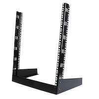 12U 19in Desktop Open Frame 2 Post Rack