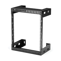 "12U 19"" Wall Mount Network Rack - 12"" Deep 2 Post Open Frame Server Room Rack for Data/AV/IT/ Communication/Computer Equipment/Patch Panel w/Cage Nuts & Screws 200lb Capacity"