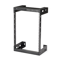 "15U 19"" Wall Mount Network Rack - 12"" Deep 2 Post Open Frame Server Room Rack for Data/AV/IT/ Communication/Computer Equipment/Patch Panel w/Cage Nuts & Screws 200lb Capacity"