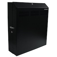 Wall-Mount Server Rack with Dual Fans and Lock - 4U