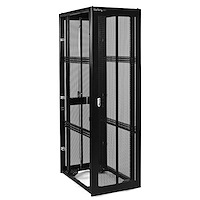 42U 36in Black Server Rack Cabinet w/ Mesh Door - No Side Panels