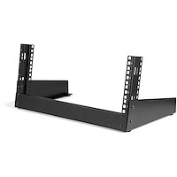 "4U 19"" Desktop Open Frame Rack - 2 Post Free-Standing Network Rack Switch Depth for Patch Panel/Data/AV/IT/Communication/Studio/Computer Equipment 66lb Capacity w/Cage Nuts/Screws"