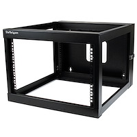 6U Hinged Open Frame Wall-Mount Server Rack - 22 in. Deep