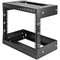 "8U 19"" Wall Mount Network Rack - Adjustable Depth 12-20"" 2 Post Open Frame Server Room Rack for AV/Data/ IT Communication/Computer Equipment/Switch w/Cage Nuts & Screws"