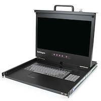 "1U Rackmount LCD console met 2 port USB Hub - 17"" monitor - 1080p - US keyboard (QWERTY)"
