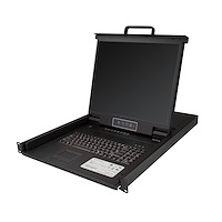"8 Port Rackmount KVM Console w/ 6ft Cables - Integrated KVM Switch w/ 19"" LCD Monitor - Fully Featured 1U LCD KVM Drawer- OSD KVM - Durable 50,000 MTBF - USB + VGA Support"