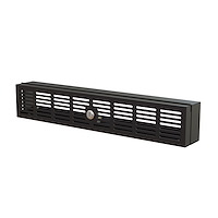 "2U Rack Mount Security Cover - Hinged Locking Rack Panel/ Cage/Door for Physical Security/ Access Control of 19"" Server Rack & Network Cabinet - Assembled w/Mounting Hardware"