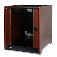 12U Rack Enclosure Server Cabinet - 21 in. Deep - Wood Finish - Flat Pack