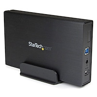 3.5in Black USB 3.0 External SATA III Hard Drive Enclosure with UASP for SATA 6 Gbps – Portable External HDD