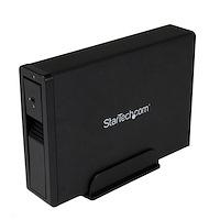 "USB 3.0 eSATA Hard Drive Enclosure - Trayless 3.5"" SATA III HDD Enclosure - SATA 6 Gbps - Black"