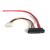 18in SAS 29 Pin to SATA Cable with LP4 Power