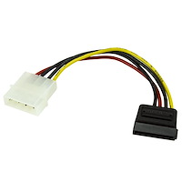 6in 4 Pin LP4 to SATA Power Cable Adapter