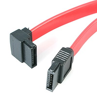 12in SATA to Left Angle SATA Serial ATA Cable