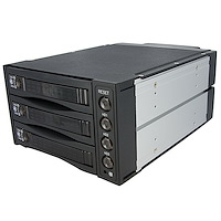 Hot Swap SATA/SAS Backplane RAID Bays – 3 Hard Drive Mobile Rack