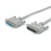 10 ft Straight Through Serial Parallel Cable - DB25 M/F