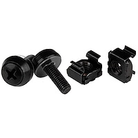 M5 x 12mm - Screws and Cage Nuts - 50 Pack, Black