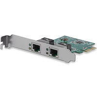 2 Port Low Profile PCI Express Gigabit Ethernet Netzwerkkarte - PCIe Server Adapter