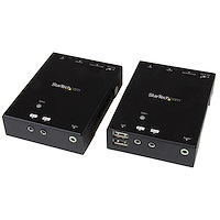 HDMI over CAT5 HDBaseT Extender with USB Hub - 295 ft (90m) - Up to 4K