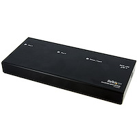 2 Port DVI Video Splitter with Audio