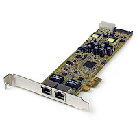Dual Port PCI Express Gigabit Ethernet PCIe-netwerkkaart adapter - PoE/PSE