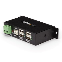 4-Port Industrial USB 2.0 Hub with ESD Protection