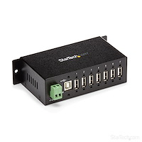 7-Port Industrial USB 2.0 Hub with ESD & 350W Surge Protection