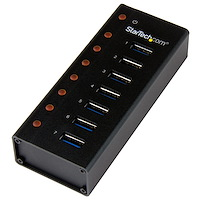 7-Port USB 3.0 Hub - Desktop or Wall-Mountable Metal Enclosure