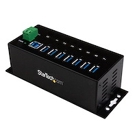 7-Port Industrial USB 3.0 Hub with ESD & 350W Surge Protection