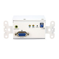 VGA Wall Plate Video Extender Receiver over Cat 5 with Audio