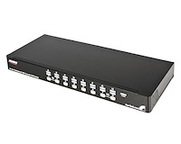 16-poort 1U-Rack USB PS/2 KVM-switch met OSD