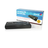 2 Port Black PS/2 KVM Switch Kit with Cables