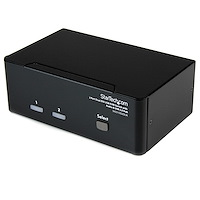 2 Port DVI USB KVM Switch mit Audio und USB 2.0 Hub