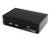 2 Port DVI USB KVM Switch with Audio and USB 2.0 Hub