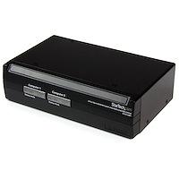 2 Port Steel USB KVM Switch with Audio and USB 2.0 Hub