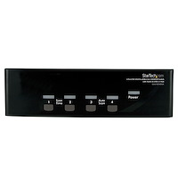4 Port DVI VGA Dual Monitor KVM Switch USB with Audio & USB 2.0 Hub