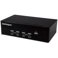 4 Port KVM Switch mit Dual-VGA - USB 2.0