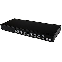 Switch KVM USB PS/2 a 8 porte montabile a rack 1U, con OSD