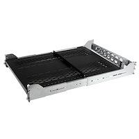 2HE ausziehbarer belüfteter Fachboden mit Kabelführung / verstellbarer Montagetiefe bis 22,7 kg