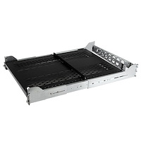 2U Vented Sliding Rack Shelf w/ Cable Management Arm & Adjustable Mounting Depth - 200lbs / 90.7kg