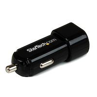 Dual-Port USB Car Charger - 17W/3.4A - Black