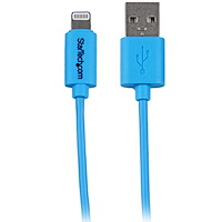 1 m (3 ft.) Lightning to USB Cable - iPhone / iPad / iPod Charger Cable - High Speed Charging Lightning to USB Cable - Apple MFi Certified - Blue