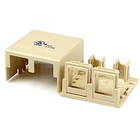 Dual Cat 5e RJ45 Wall Box - Ivory