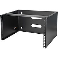Soporte Montaje en Pared de 6U 13,78in Profundidad Rack Horizontal para Patch Panel Parcheo