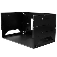 Wall-Mount Server Rack with Built-in Shelf - Solid Steel - 4U
