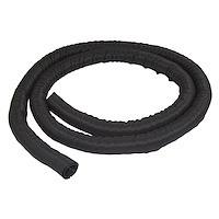 "6.5' (2m) Cable Management Sleeve - Flexible Coiled Cable Wrap - 1.0-1.5"" dia. Expandable Sleeve - Polyester Cord Manager/Protector/Concealer - Black Trimmable Cable Organizer"